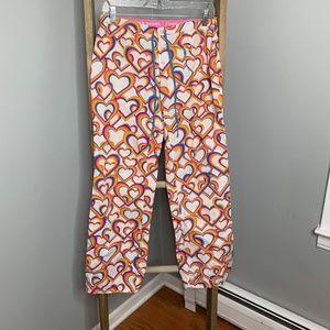 VS Pink Heart Pajama Pants Rainbow